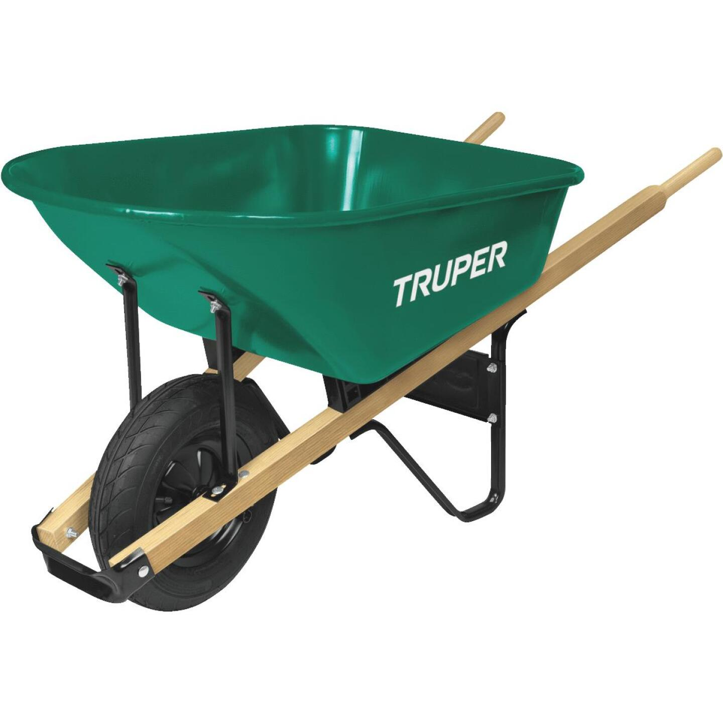 Truper 6 Cu. Ft. Steel Wheelbarrow Image 1