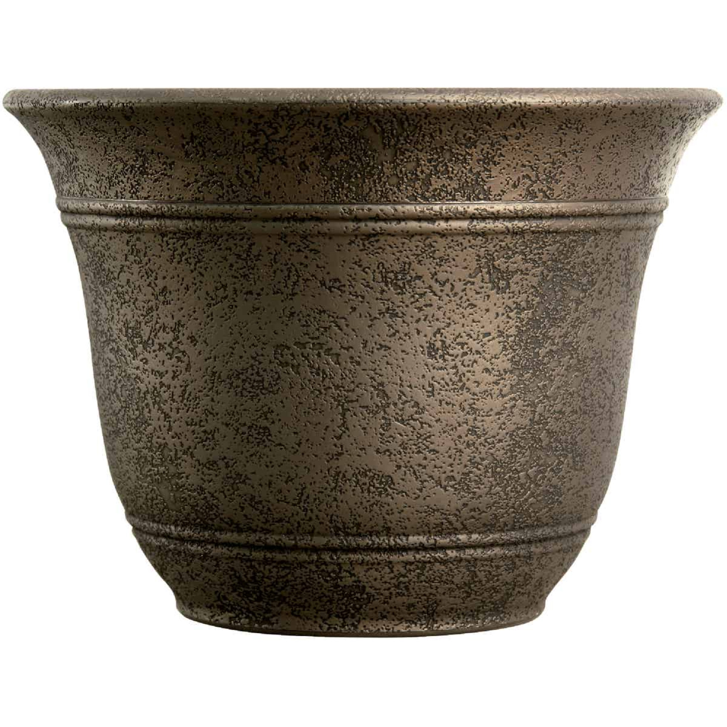 Listo Sierra 11-3/4 In. H. x 16 In. Dia. Nordic Bronze Poly Flower Pot Image 1