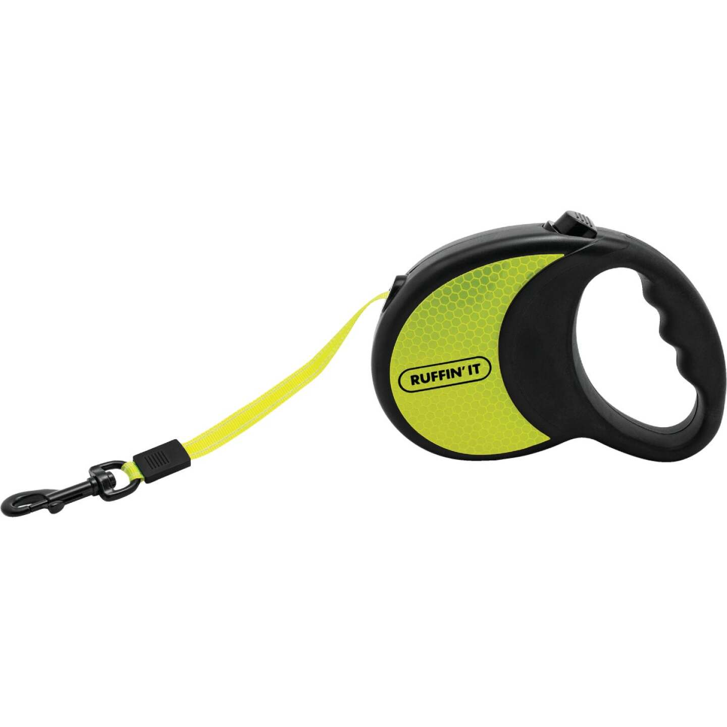 Westminster Pet Ruffin' it Up to 50 Lb. 10 Ft. Webbed Reflective Neon Yellow Retractable Leash Image 1