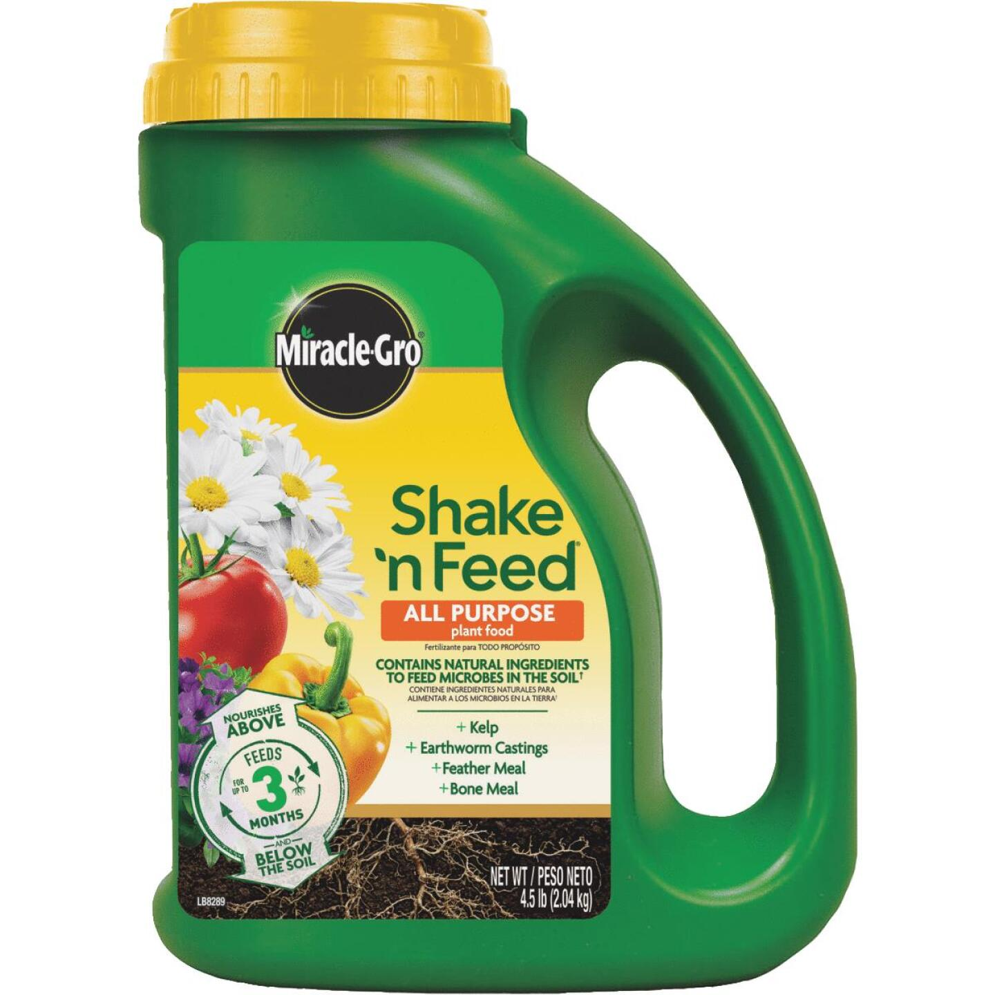 Miracle-Gro Shake N' Feed 4.5 Lb. 12-4-8 All-Purpose Dry Plant Food Image 1