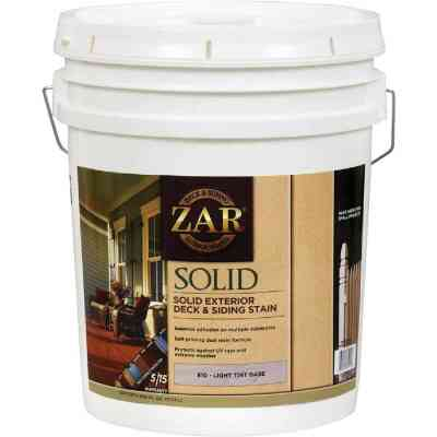 ZAR Solid Deck & Siding Stain, Light Tint Base, 5 Gal.