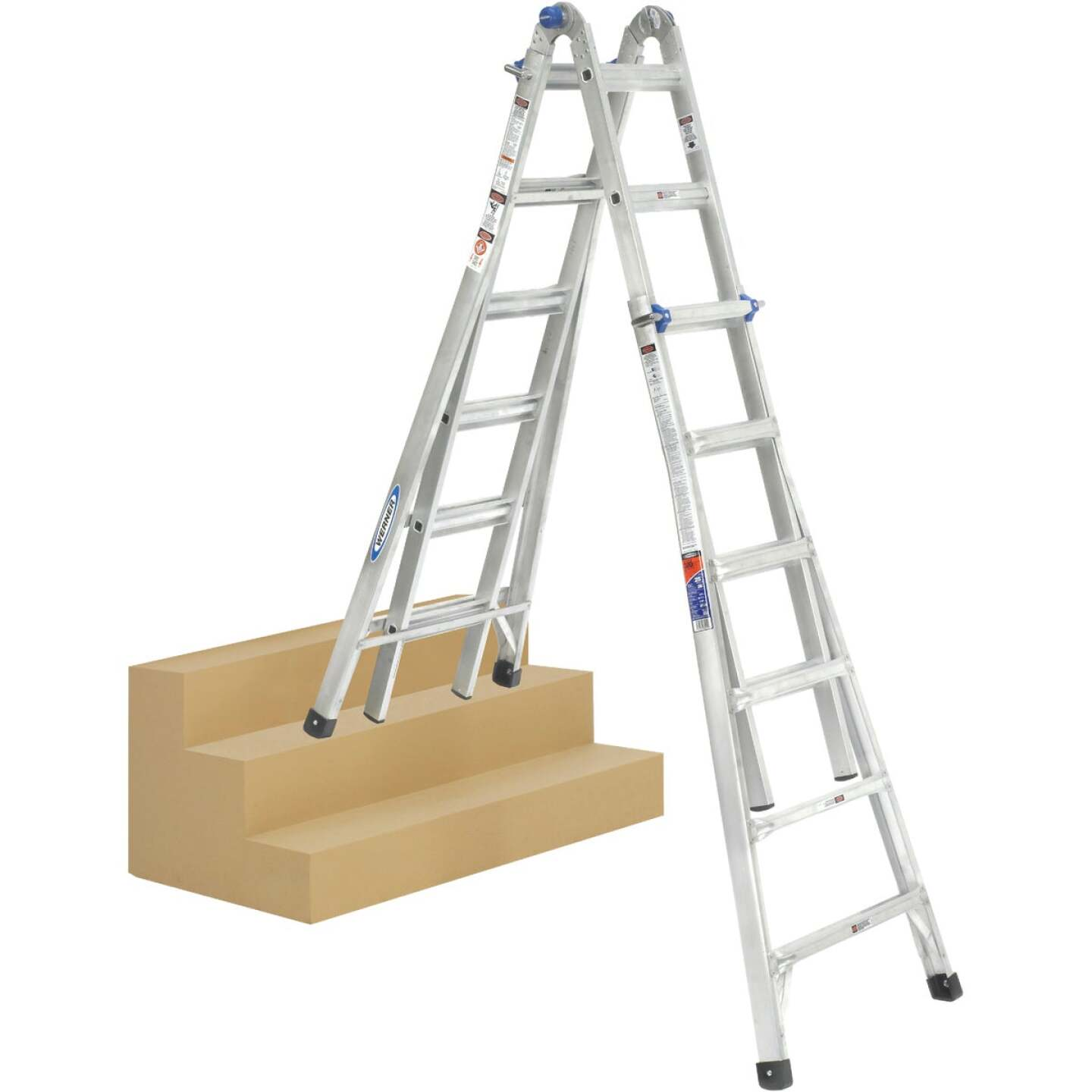 Werner 26 Ft. Aluminum Multi-Position Telescoping Ladder with 300 Lb. Load Capacity Type IA Ladder Rating Image 9