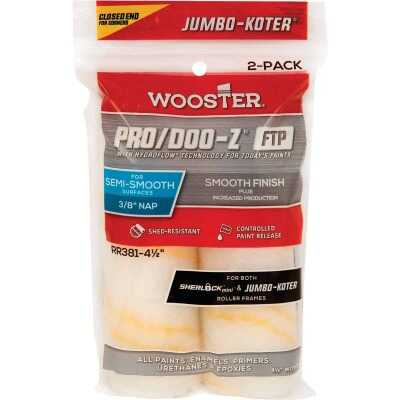 Wooster Jumbo-Koter P/D FTP 4-1/2 In. x 3/8 In. Woven Paint Roller Cover (2 Pack)
