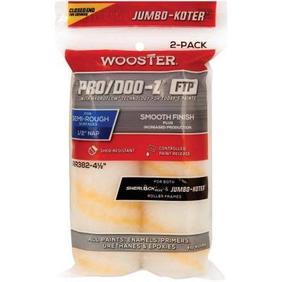 Wooster Jumbo-Koter P/D FTP 4-1/2 In. x 1/2 In. Woven Paint Roller Cover (2 Pack)