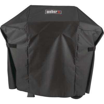 Weber Spirit II 48 In. 2-Burner Black Polyester Gas Grill Cover
