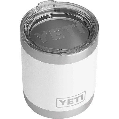 Yeti Rambler Lowball 10 Oz. White Stainless Steel Insulated Tumbler