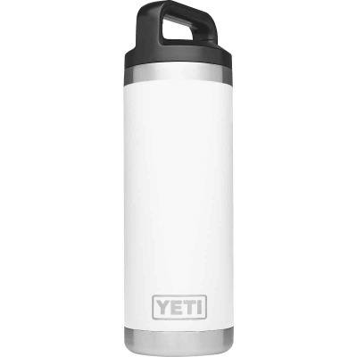 Yeti Rambler 18 Oz. White Stainless Steel Insulated Vacuum Bottle