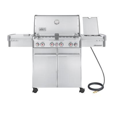 Weber Summit S-470 4-Burner Stainless Steel 48,800-BTU Natural Gas Grill with 12,000-BTU Side -Burner
