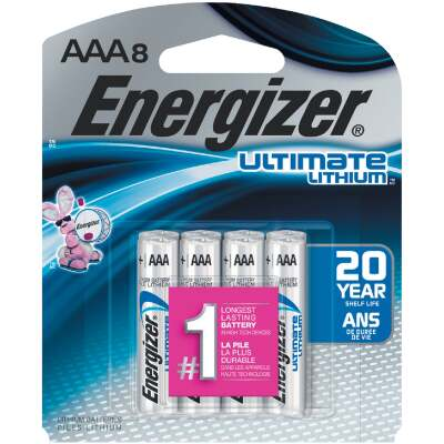 Energizer AAA Ultimate Lithium Battery (8-Pack)