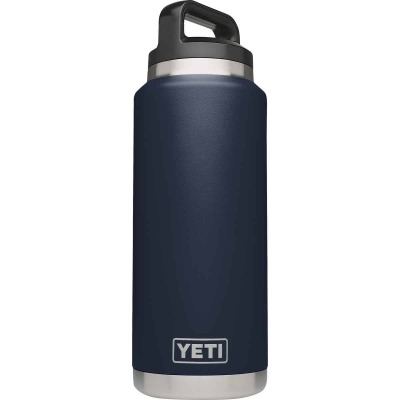 Yeti Rambler 36 Oz. Navy Blue Stainless Steel Insulated Vacuum Bottle