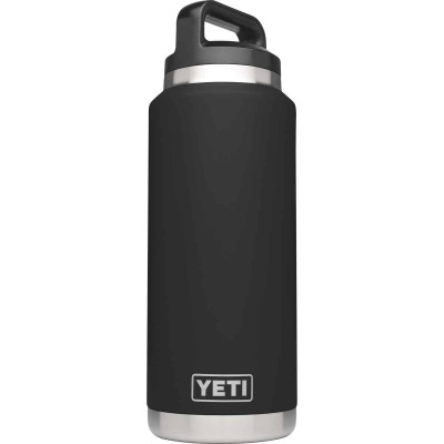 Yeti Rambler 36 Oz. Black Stainless Steel Insulated Vacuum Bottle