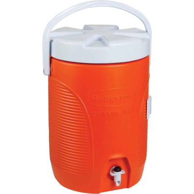 Rubbermaid 3 Gal. Orange Water Jug with Swing-Top Handle