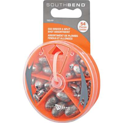 SouthBend 54-Piece Egg & Split Shot Sinker Kit Assortment