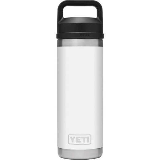 Yeti Rambler 18 Oz. White Stainless Steel Insulated Vacuum Bottle with Chug Cap