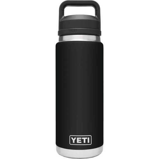 Yeti Rambler 26 Oz. Black Stainless Steel Insulated Vacuum Bottle with Chug Cap