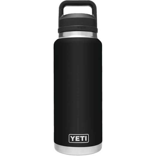 Yeti Rambler 36 Oz. Black Stainless Steel Insulated Vacuum Bottle with Chug Cap