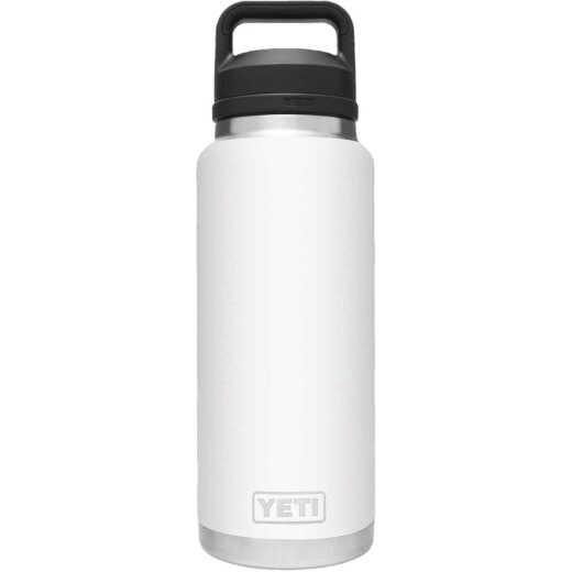 Yeti Rambler 36 Oz. White Stainless Steel Insulated Vacuum Bottle with Chug Cap