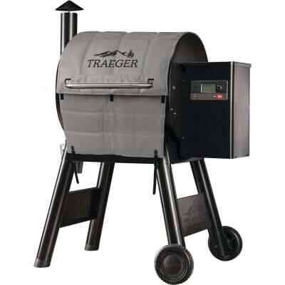 Traeger Pro 575/Pro 22 45 In. Gray Foil-Backed Heat-Resistant Fabric Insulated Blanket Grill Cover