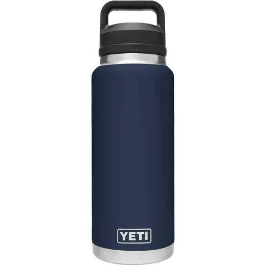 Yeti Rambler 36 Oz. Navy Stainless Steel Insulated Vacuum Bottle with Chug Cap